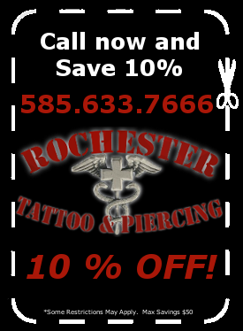 Rochester Tattoo & Piercing Coupons